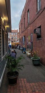 Eastside Grill alley, summer